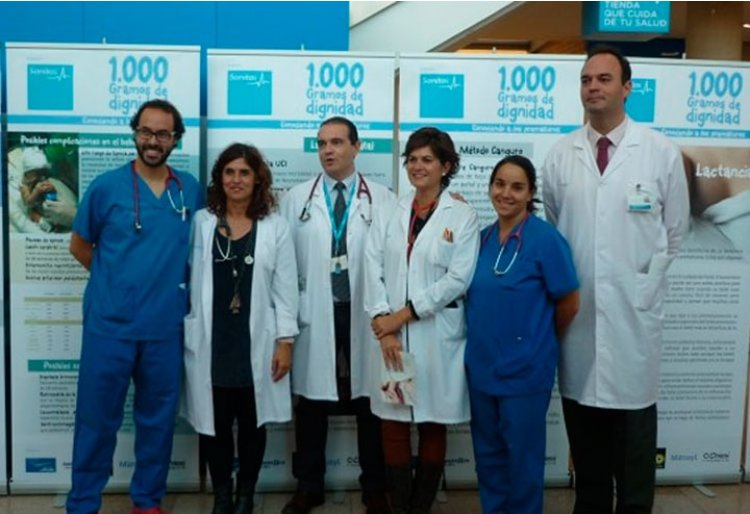 The <em>Thousand Grams of Dignity</em> exhibition visits Sanitas' La Moraleja and La Zarzuela university hospitals.