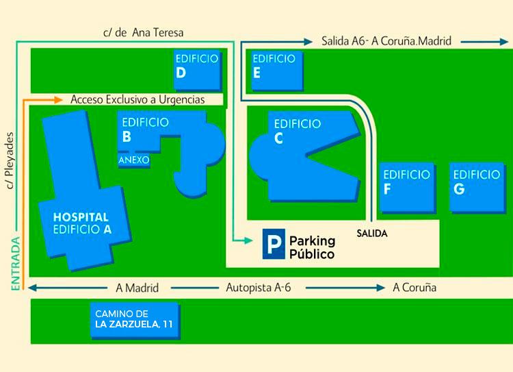 Mapa Pabellones Hospital De Navarra.Distribucion Y Planos Hospital La Zarzuela Sanitas
